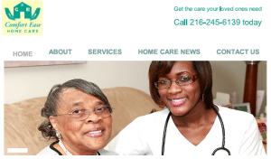 Comfort Ease Home Care, website copywriting, project
